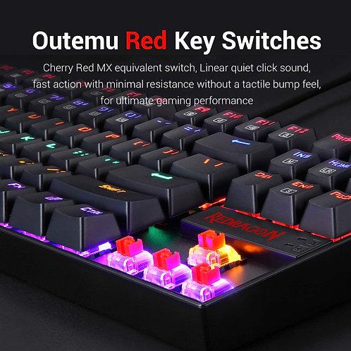 reddragon k552 kumara led backlit mechanical gaming keyboard