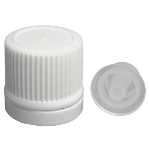 18MM White Tamper Evident Cap W/Dropper Insert    SKU:BSC-006