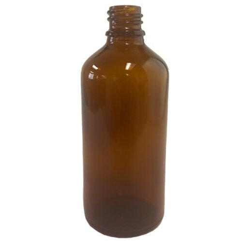 100ml Amber Glass Dropper Bottle 18MM DIN   SKU:BSB-028