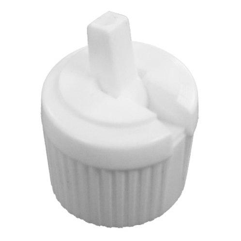 28/400 White Loc Top Cap   SKU:BSC-005
