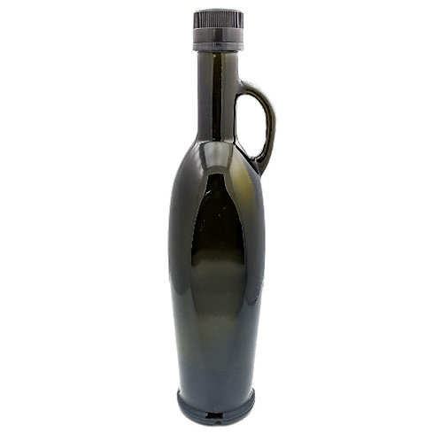 500ml Green Olive Oil Bottle W/Black Cap   SKU:BSB-119