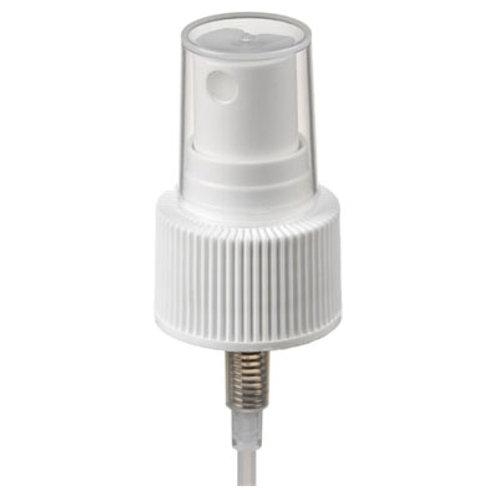 20-410 White Ribbed Mist Sprayer   SKU:BSS-001