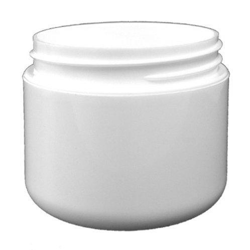8oz White PP Double Wall Round Base Jar 89/400   SKU:BSJ-020