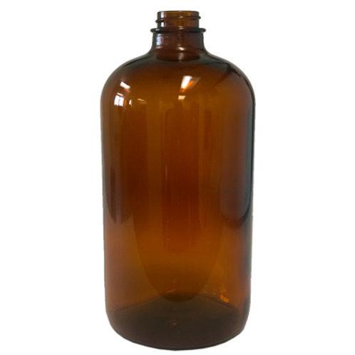 32oz Amber Glass Boston Rnd 33/400   SKU:BSB-040