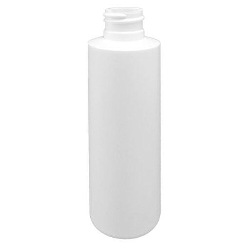 4oz White HDPE Cyl 24-410   SKU:BSB-010