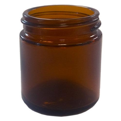 50ml Amber Glass Ointment Jar 45/400   SKU:BSJ-025