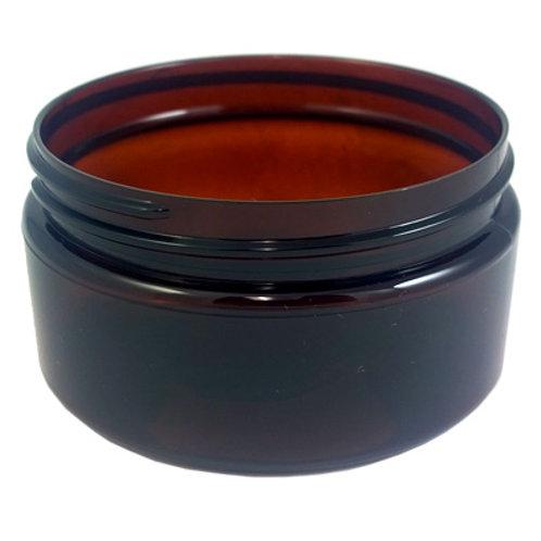 2oz Amber Pet Jar 58-400   SKU:BSJ-011