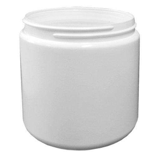 500ml White HDPE Jar 89/400   SKU:BSJ-004