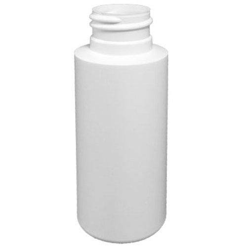2oz White HDPE Cylinder 24/410   SKU:BSB-091