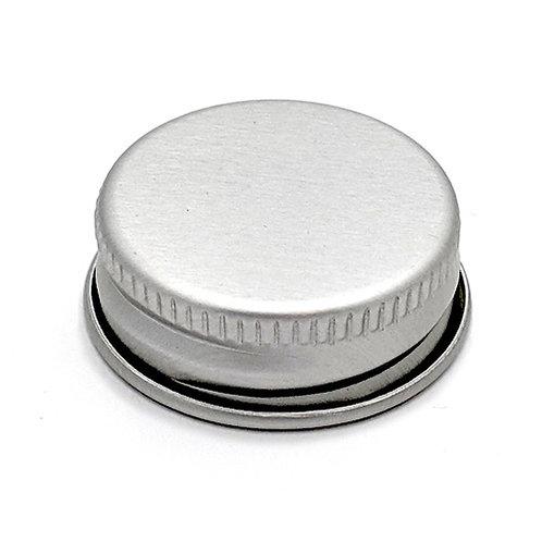 24/410 Silver Metal Cap with Liner   SKU:BSC-078