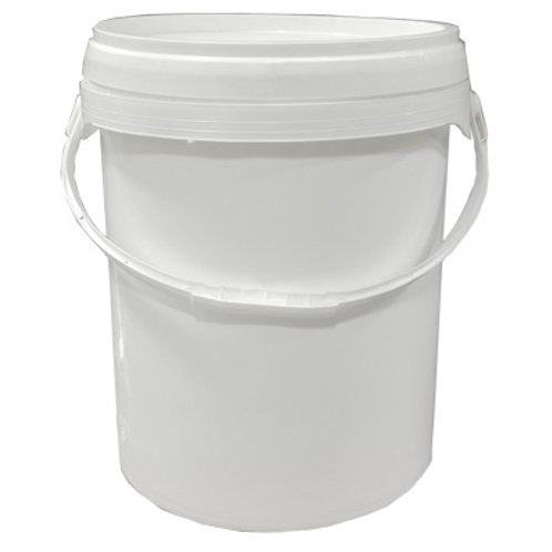 20LT White Pail With Cover   SKU:BSB-063