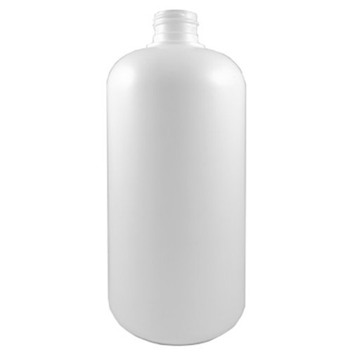500ml White HDPE Boston Round 24/410   SKU:BSB-075