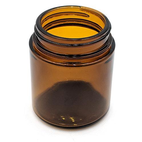 8oz Amber Glass Jar 70-400   SKU:BSJ-034