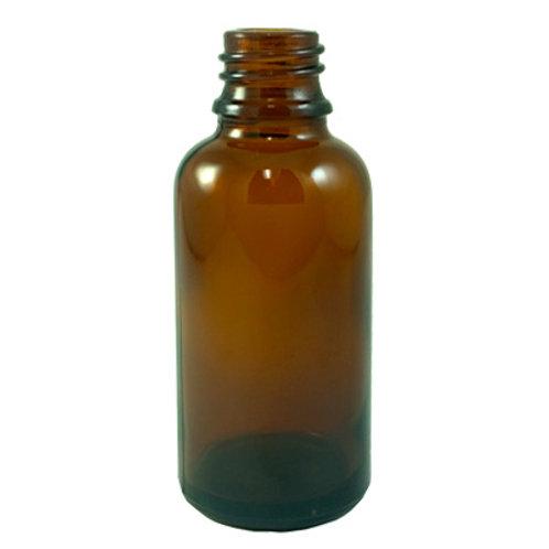 50ml Amber Glass Dropper Bottle 18MM DIN   SKU:BSB-027