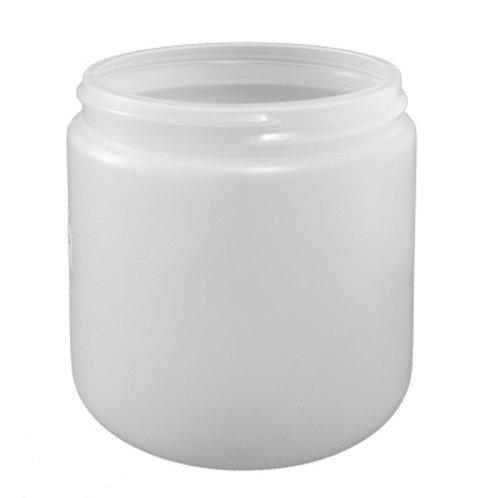 500ml Natural HDPE Jar 89/400   SKU:BSJ-005