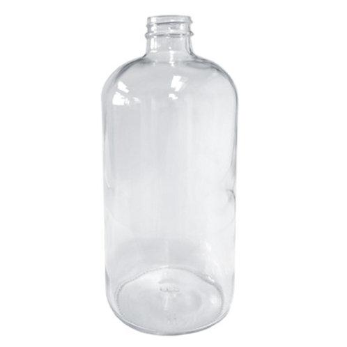 16oz Clear Glass Boston Rnd 28/400   SKU:BSB-017