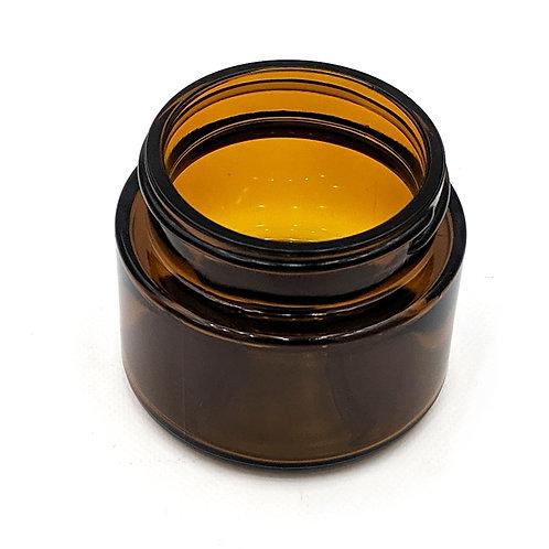 2oz Amber Glass Jar 53-400   SKU:BSJ-063