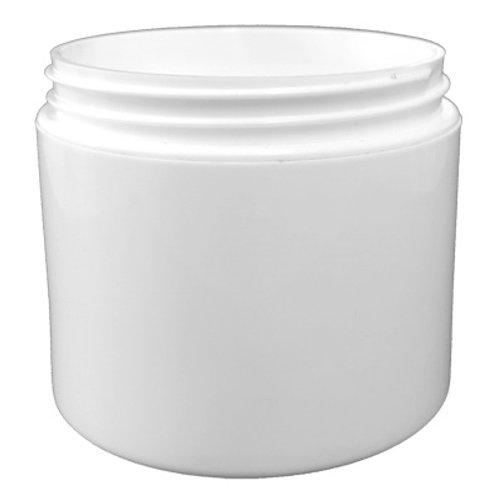 4oz White PP Double Wall Round Base Jar 70/400   SKU:BSJ-019