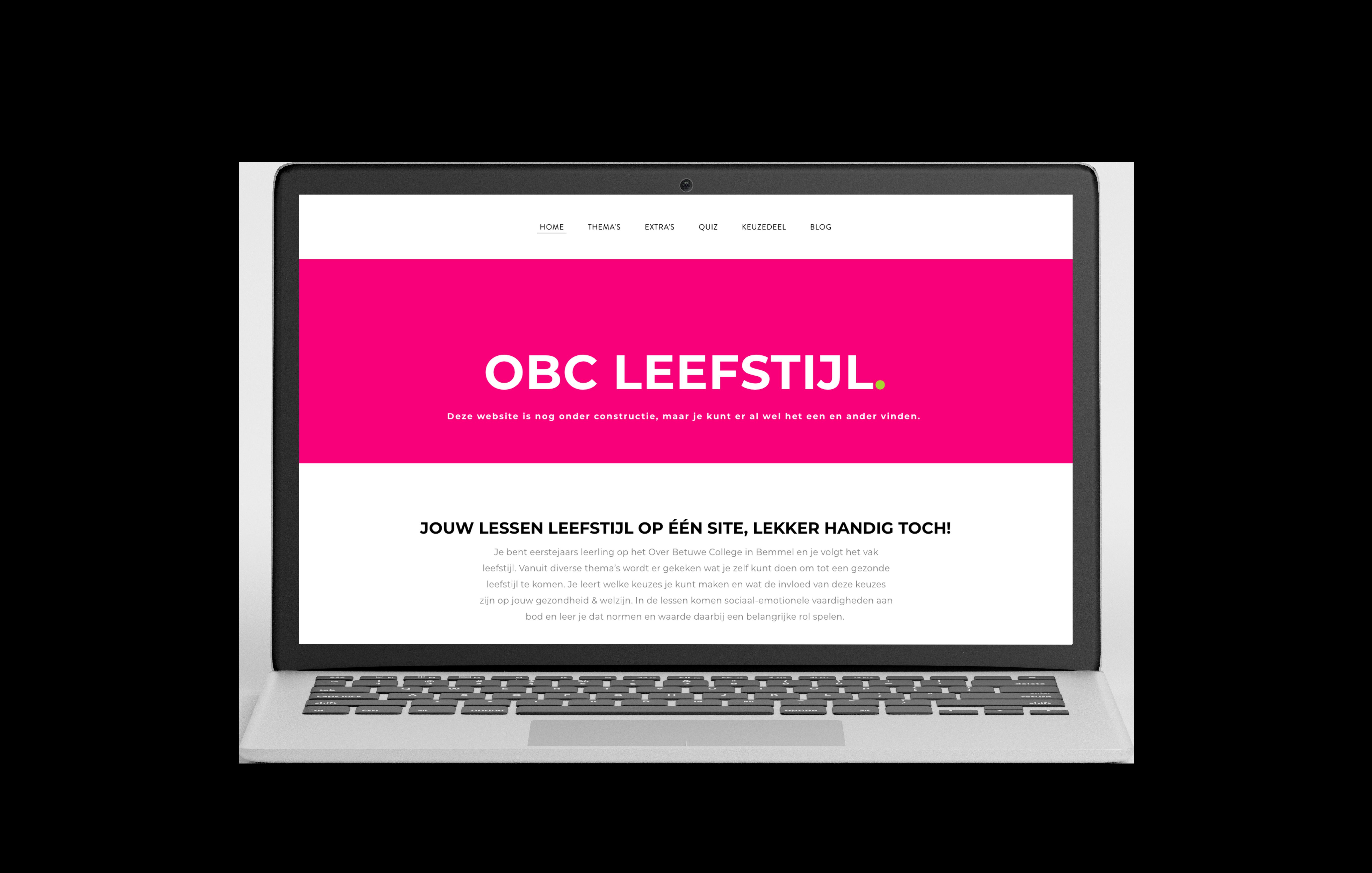 Website vak leefstijl onderbouw Over Betuwe College Bemmel