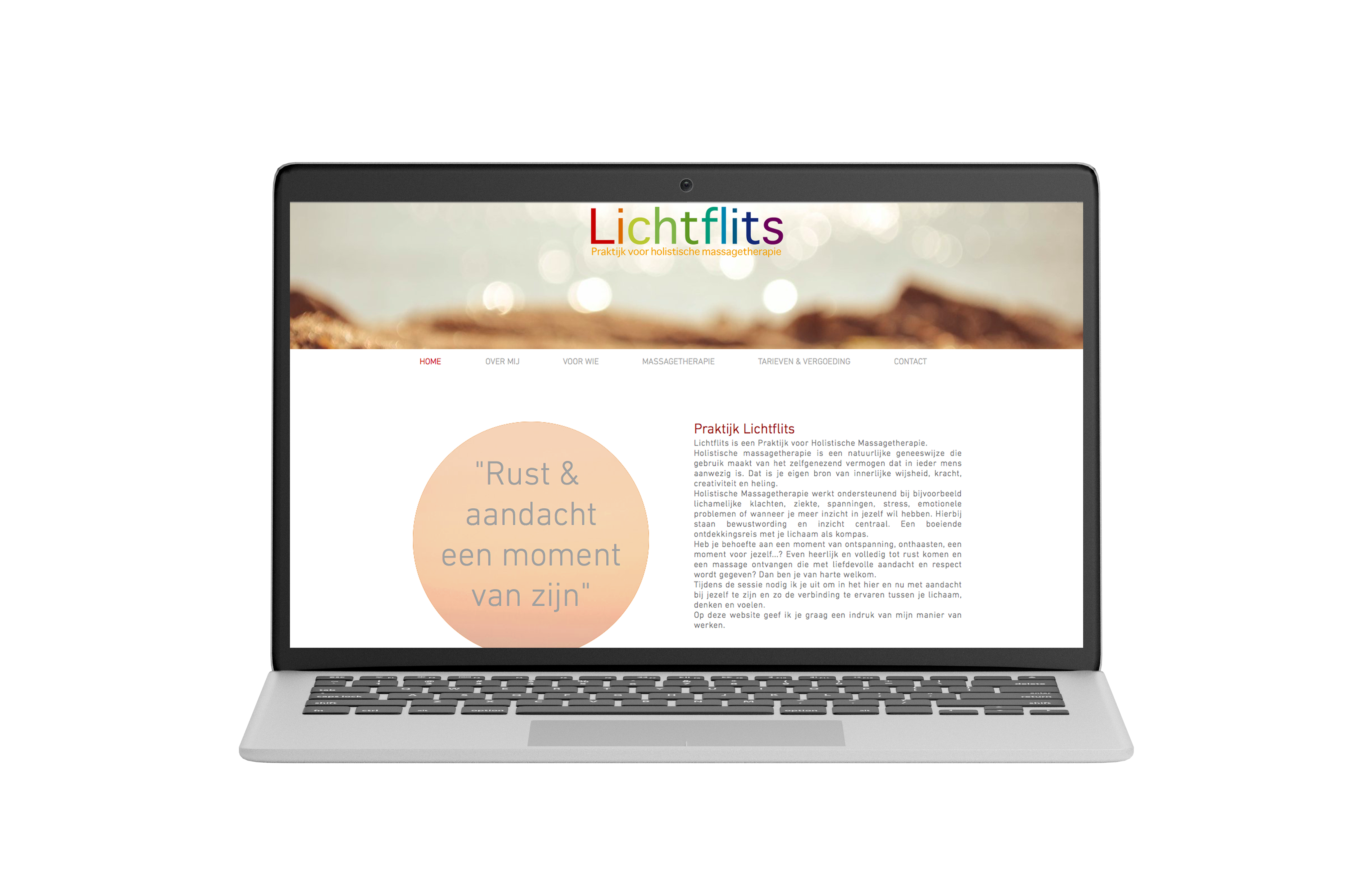 Website Praktijk Lichtflits