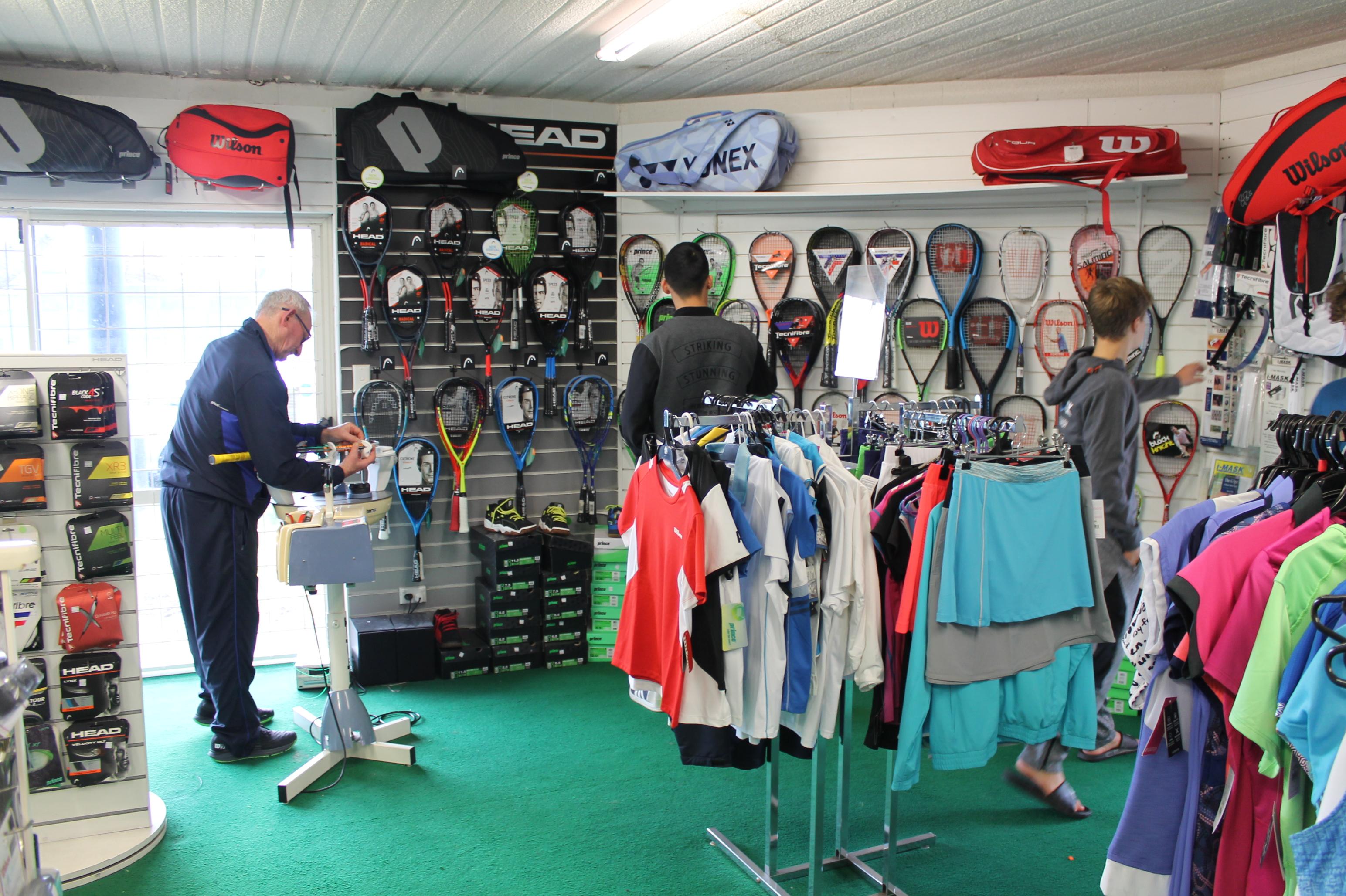 Pro shop racquet restring