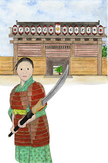 Tomoe Gozen- painted and ready for copy.