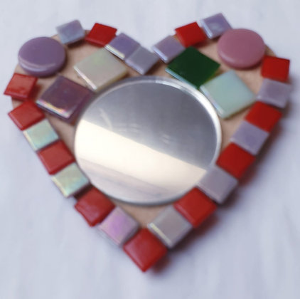 Kids Heart Mirror Mosaic