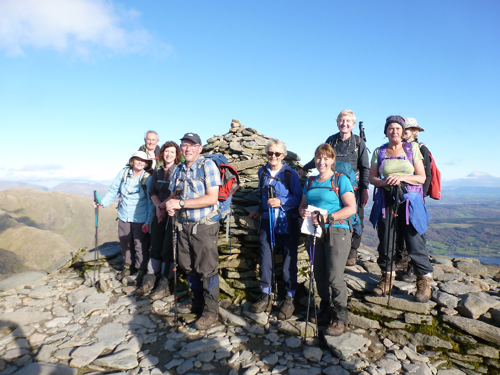 On The Old Man of Coniston with my group - and rucksack!