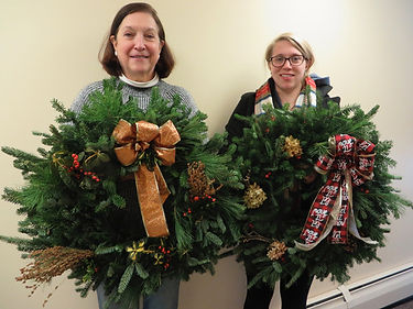 Stretton Martha and Betsy wreaths lighte