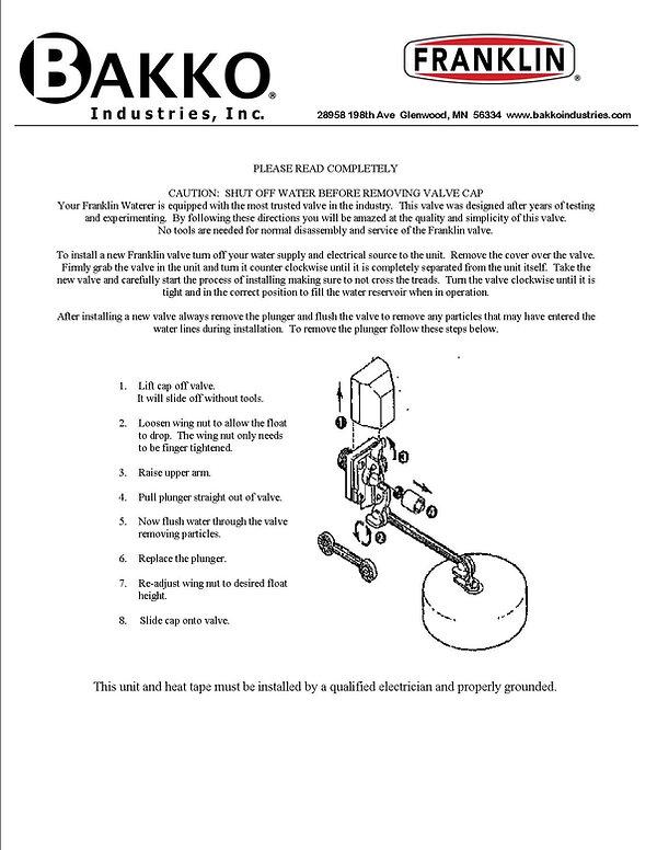 Franklin Float Valve Install Instruction