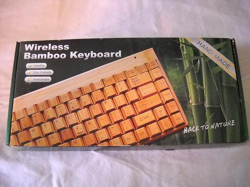 Handmade Wireless Bamboo Keyboard