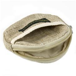Handmade Hemp Zipper Pouch