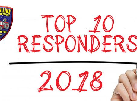 2018 Top 10 Responders