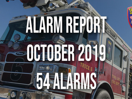 October 2019 Alarm Report