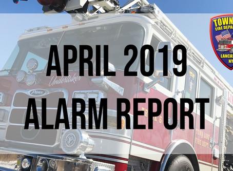 April 2019 Alarm Report