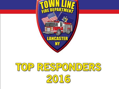 2016 Top Responders Named