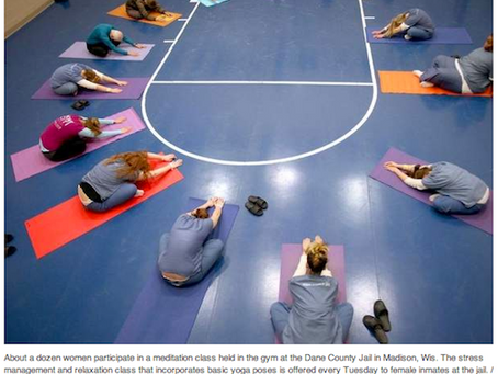 Female Inmates Practice Yoga at Wisconsin Jail