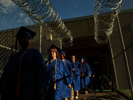 'You go, girl!': Joy, tears as 19 prison inmates earn college degrees