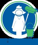 Logo Het Poetsbureau Alternatief (blauw)