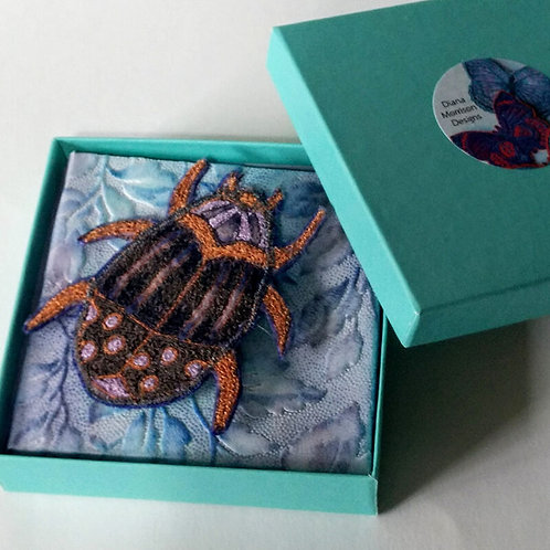 Beetle brooch