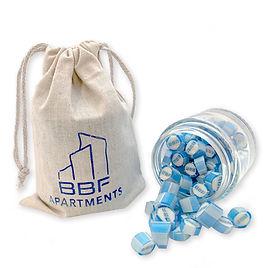 papabubble brussels bonbons snoepjes rock candy relatiegeschenk personnalisés gepersonaliseerde b2b sachets tissu zakjes tampon imprimé