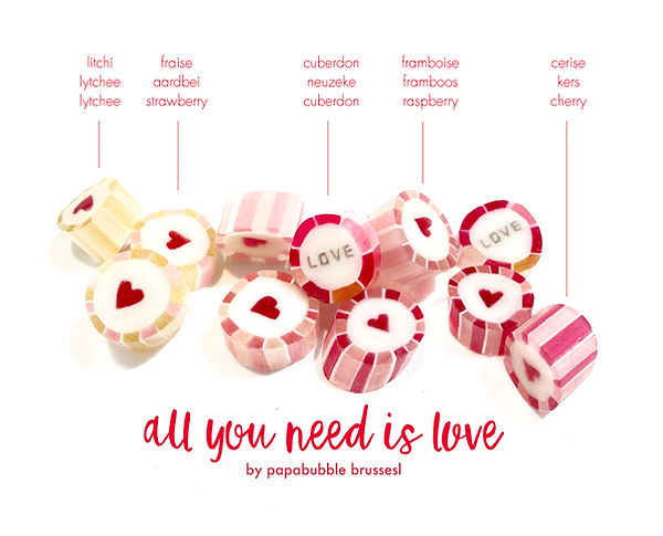 papabubble brussels bonbons snoepjes rock candy love valentine