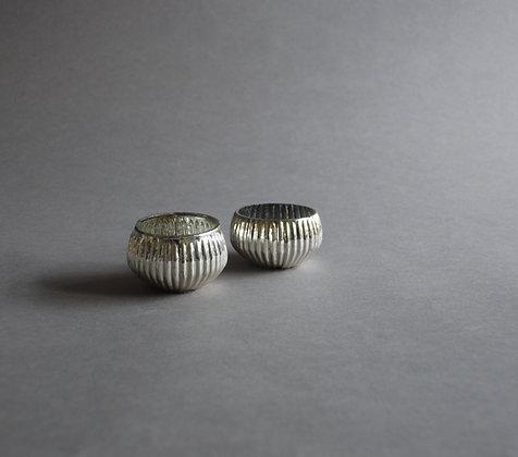 Silver tea lights x 2