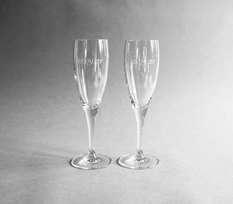 Bespoke Crystal Champagne x 2