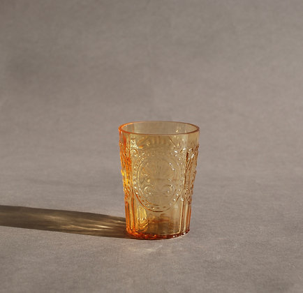 Portuguese Small Amber water glass
