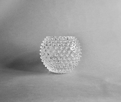 Crystal hobnail vase - clear