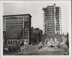 Baltimore Fire of 1904 with Mercantile Trust and Bank Building Still Standing
