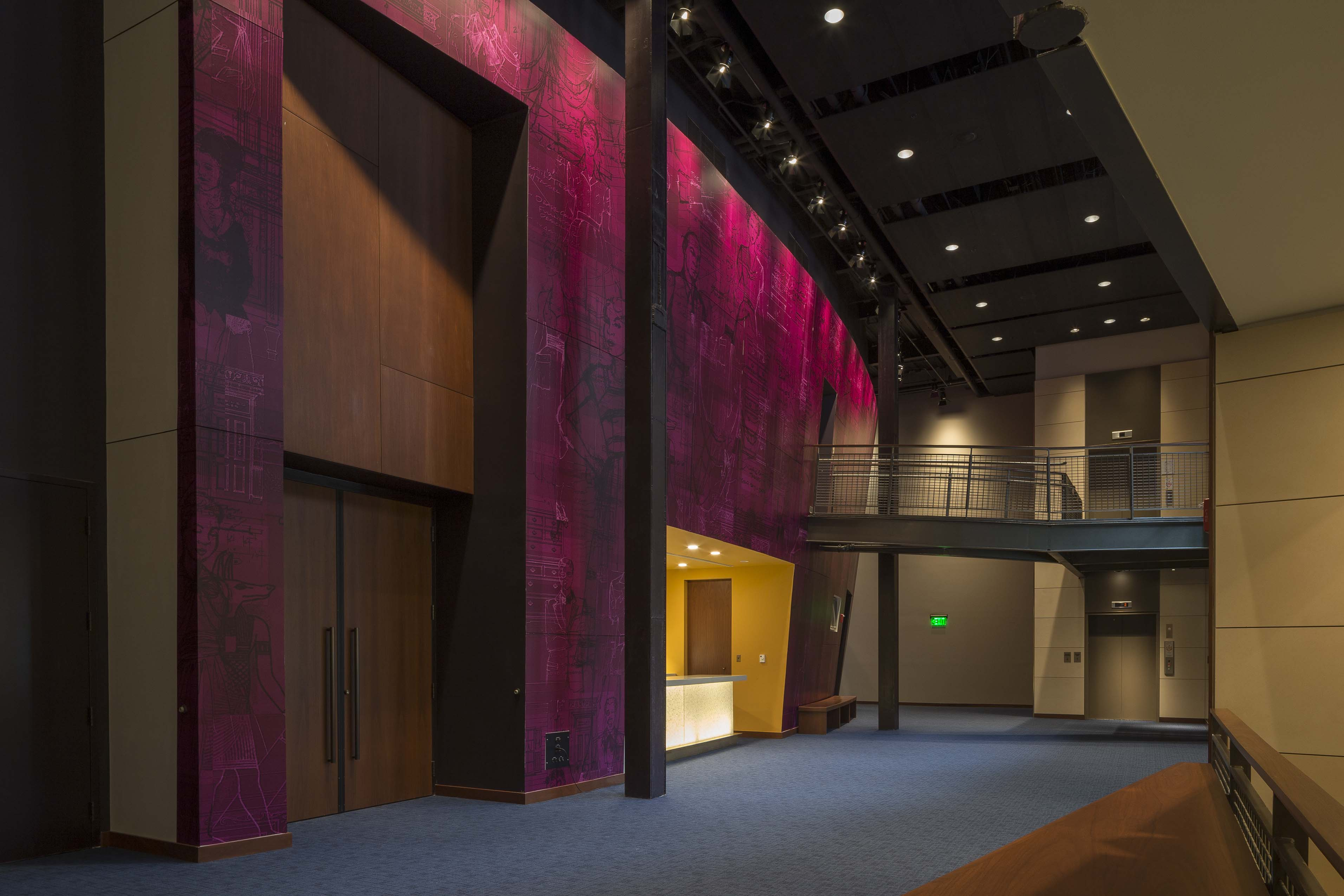 Everyman Theater Lobby Feature Wall