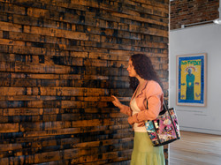 Whiskey Barrel Stave Wall