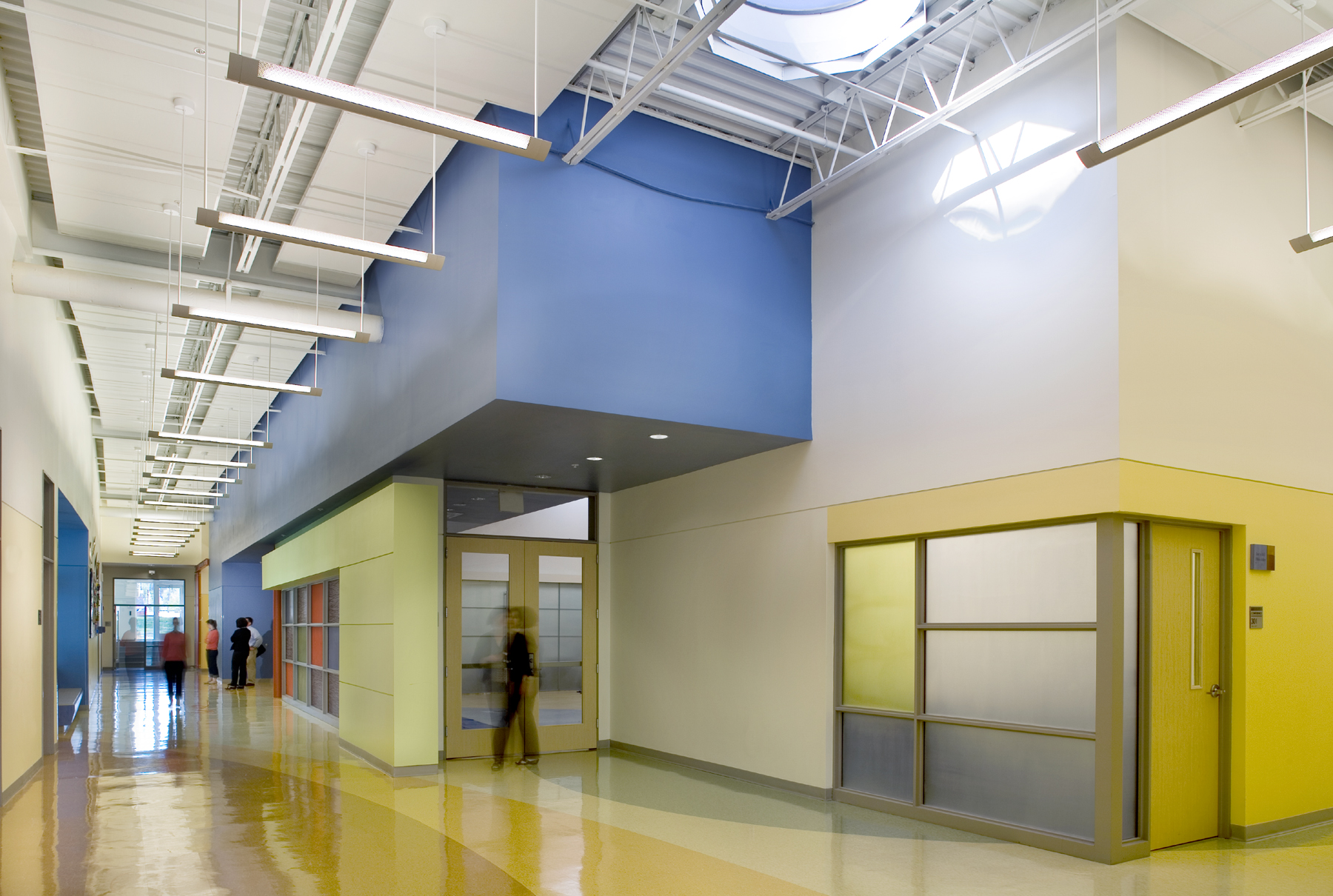 Forbush School Main Corridor and Multipurpose Room
